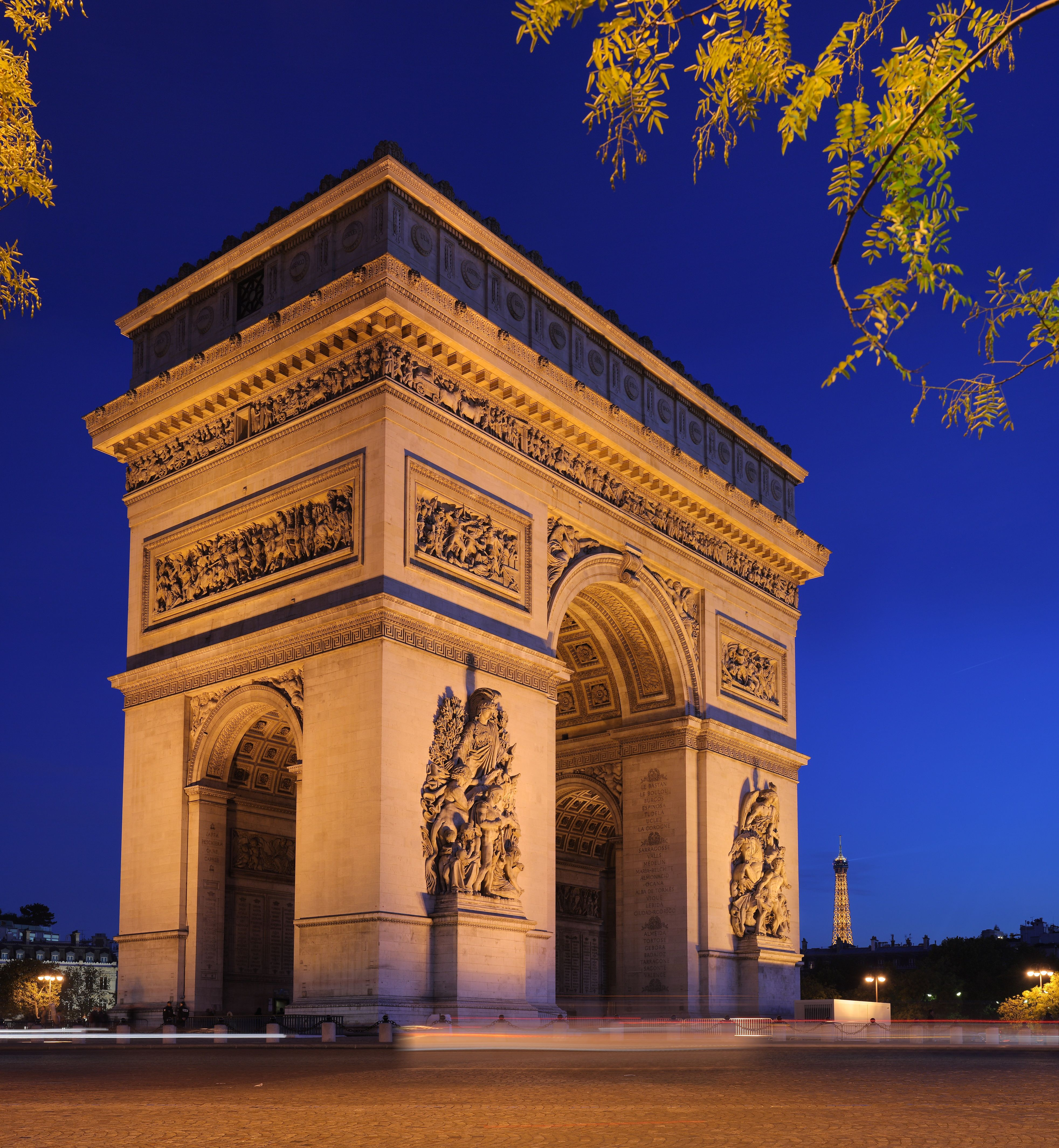 you must see arc de triomphe at night if you happen to visit arc de